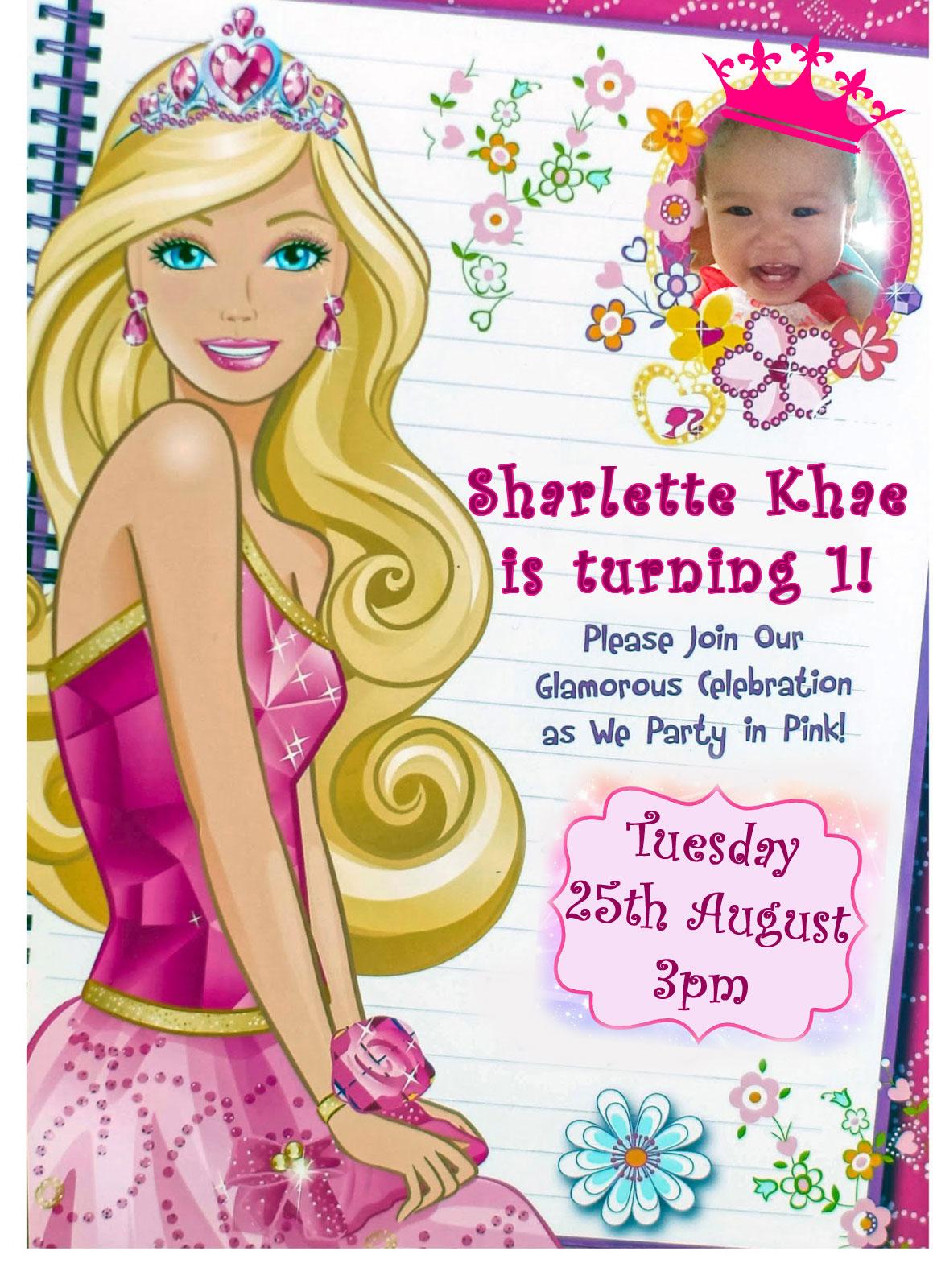 Diy barbie invitation nhengs wonderland diy barbie invitation stopboris Gallery