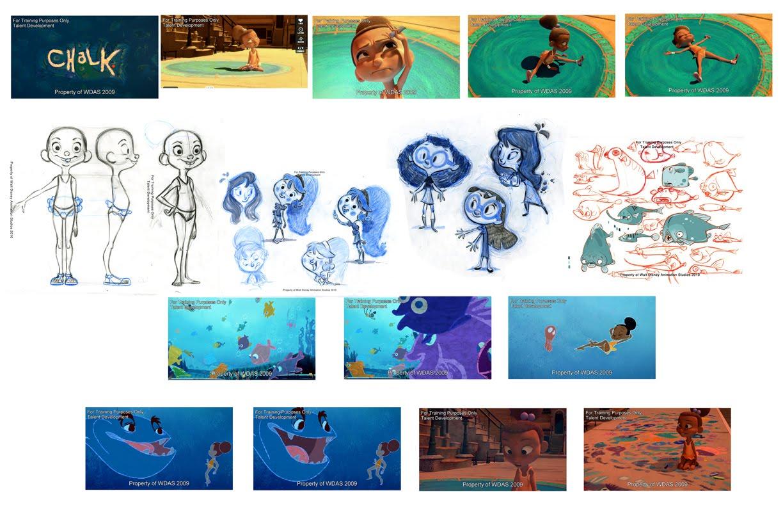 Disney Character Design Internship : Andre medina s portfolio chalk done in weeks summer