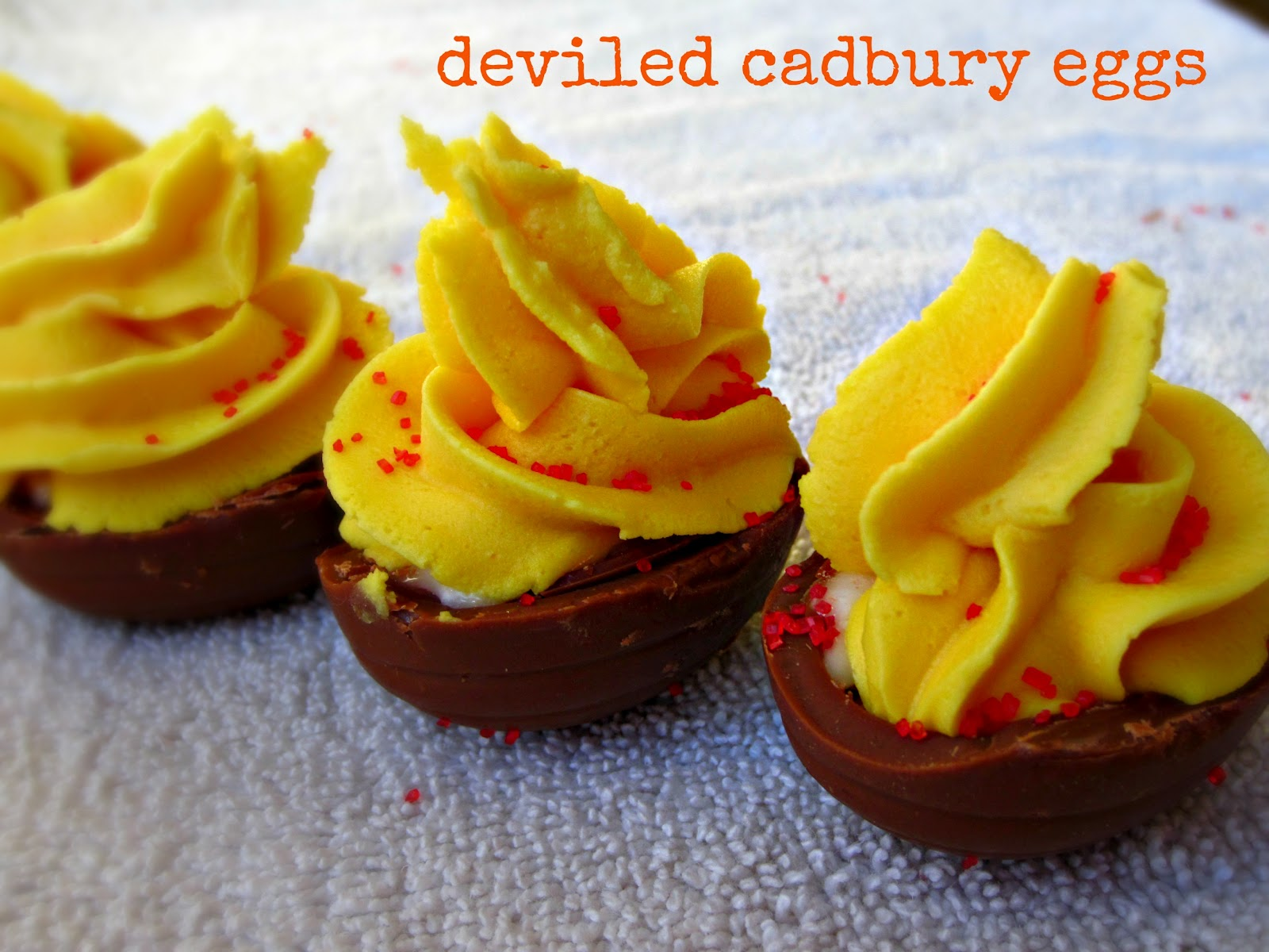 "Sugarcoated: ""Deviled"" Cadbury Creme Eggs"