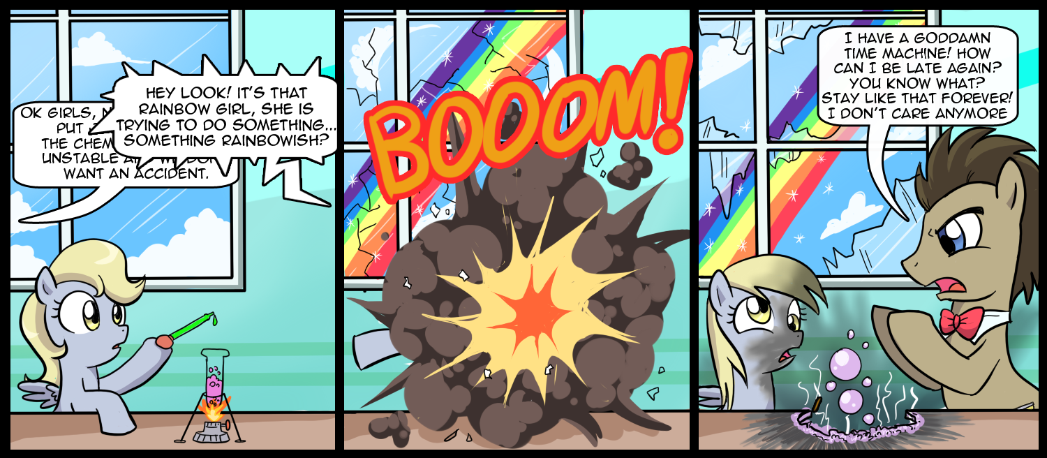 Poor derpy i guess it was inevitable that rainbow dash s rock