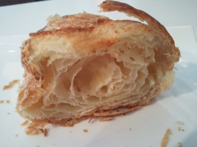 Brioche Dorée croissant - Warm, good crunch, mysterious air pocket in the middle.