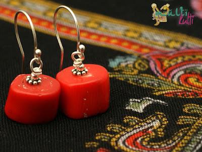 kolczyki z czerwonego korala