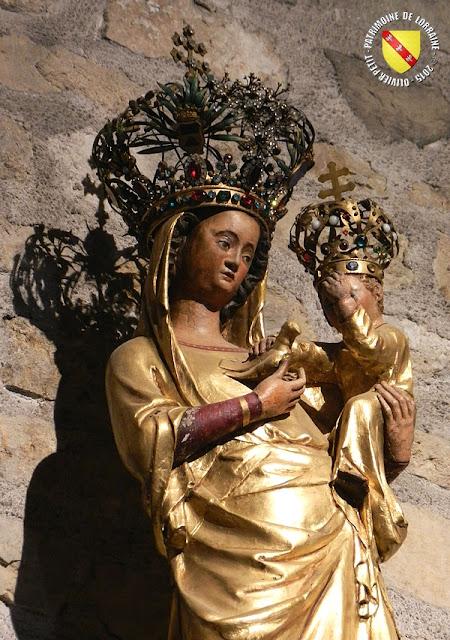 SAXON-SION (54) - Vierge à l'Alérion (XIVe siècle)
