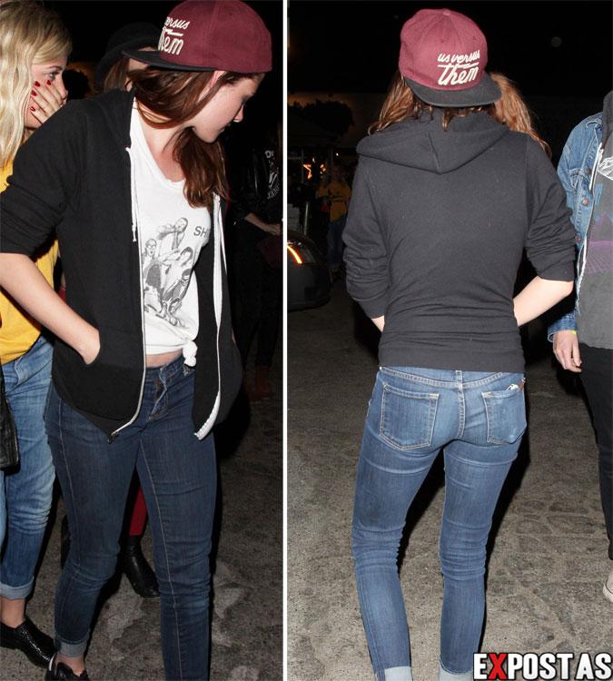 Kristen Stewart saindo de uma casa de shows em Hollywood - 18 de Abril de 2013