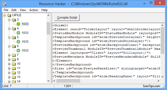 Resource Hacker Windows 8