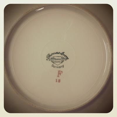 plates, thomas ivory, mark, thrifted, vintage