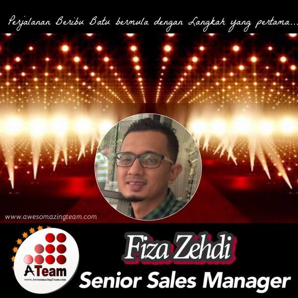 fiza zehdi dinobatkan sebagai senior sales manager 2015