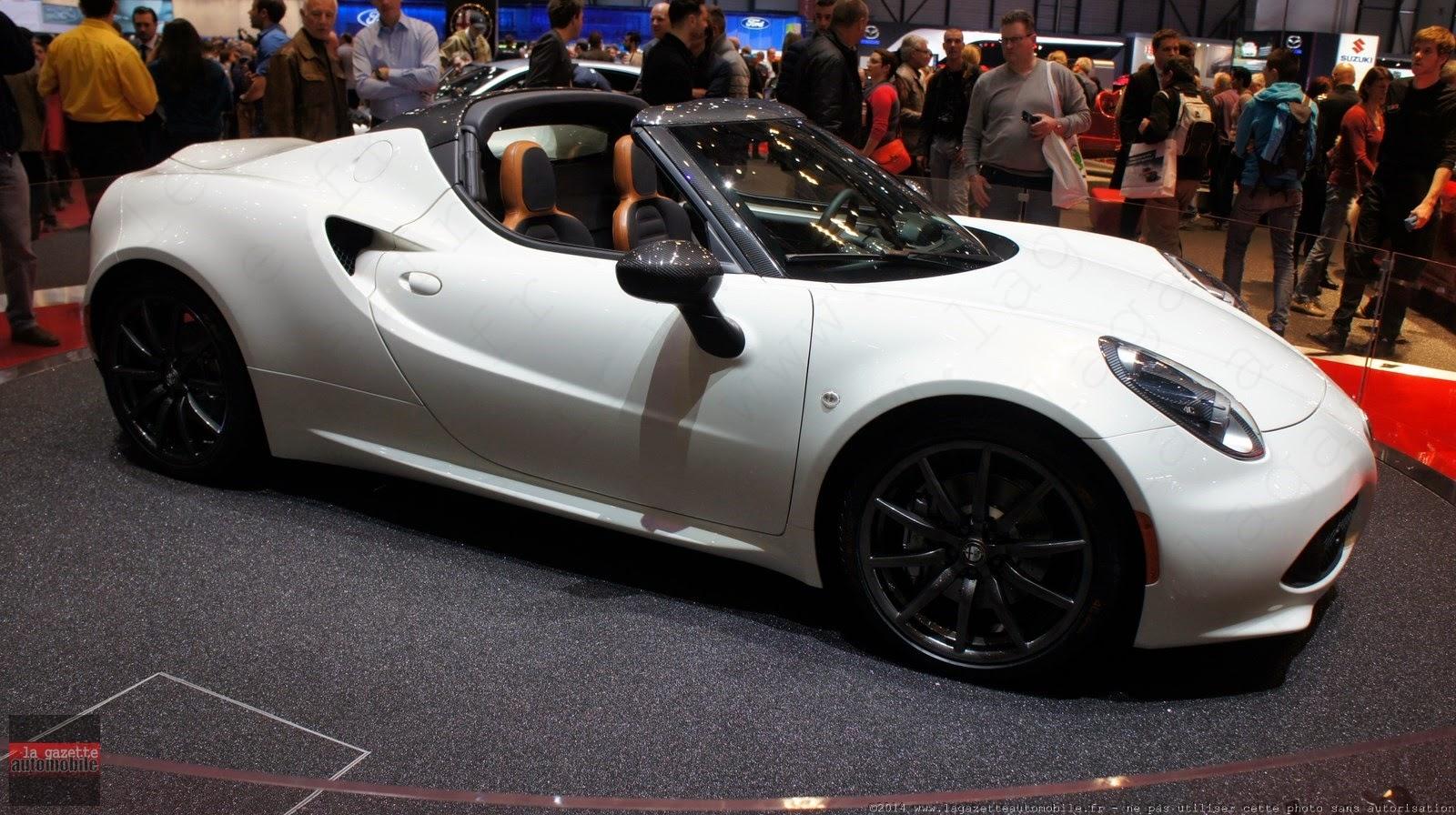 Genève : Alfa Romeo 4C Spider Concept
