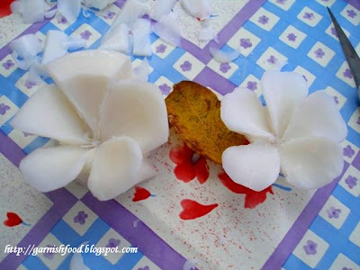 how to carve frangipani flowers in soap