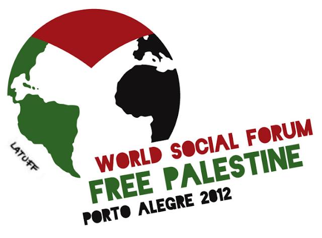 Logotipo do Fórum Social Mundial Palestina Livre