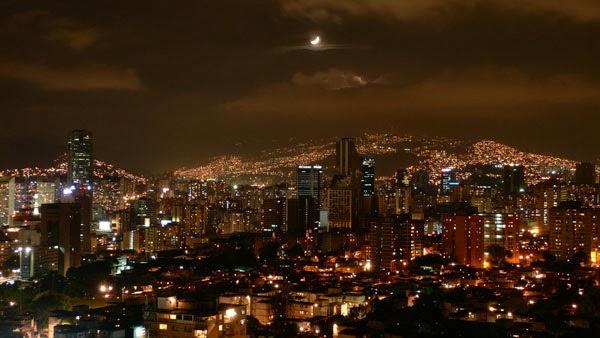 Caracas at night (Venezuela)