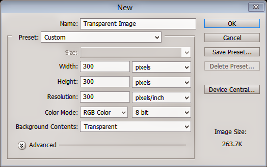 Transparent Layer Settings in Adobe Photoshop