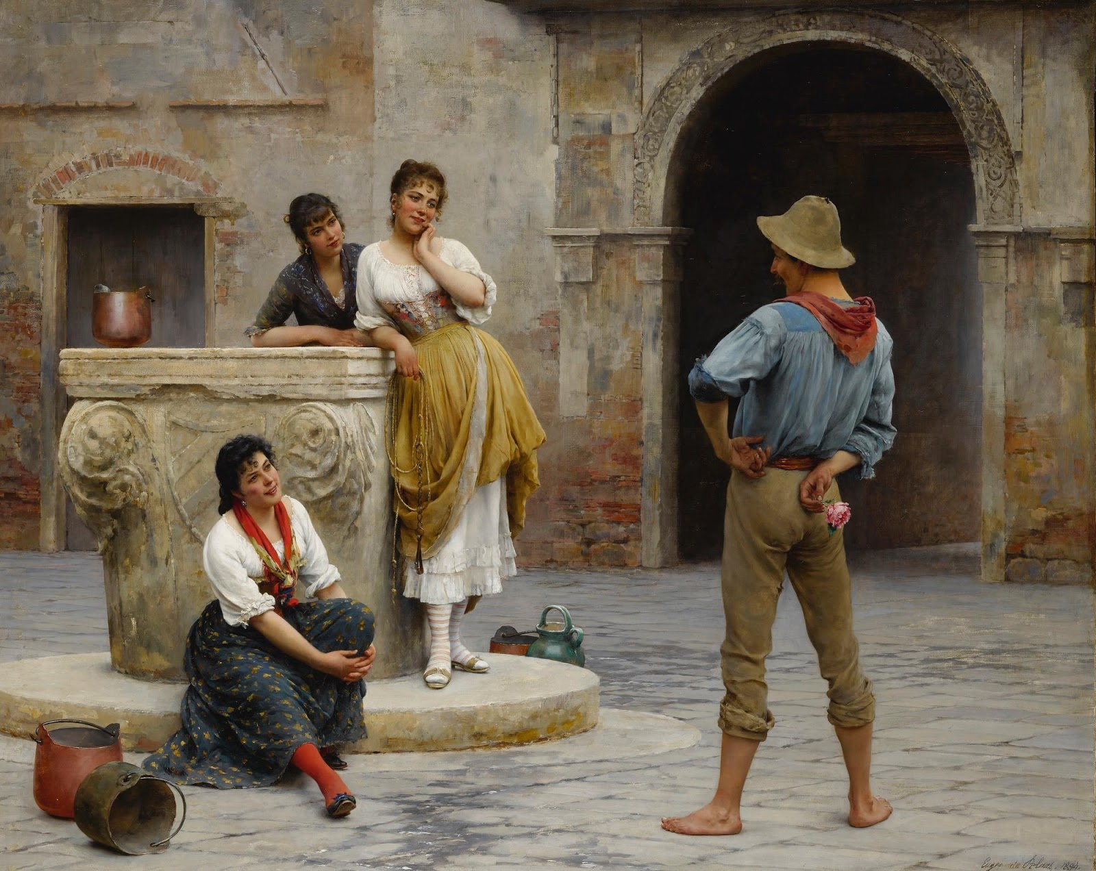 Eugene de  laas Flirtation