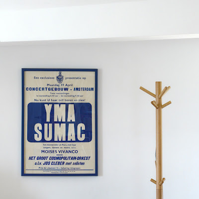 silk-screened poster for Yma Sumac concert in Amsterdam