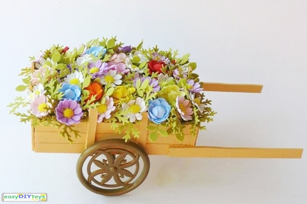 easy Crafts Paper Flowers-cart