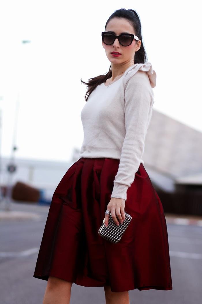 Bloguera de moda en Valencia con look para Navidad