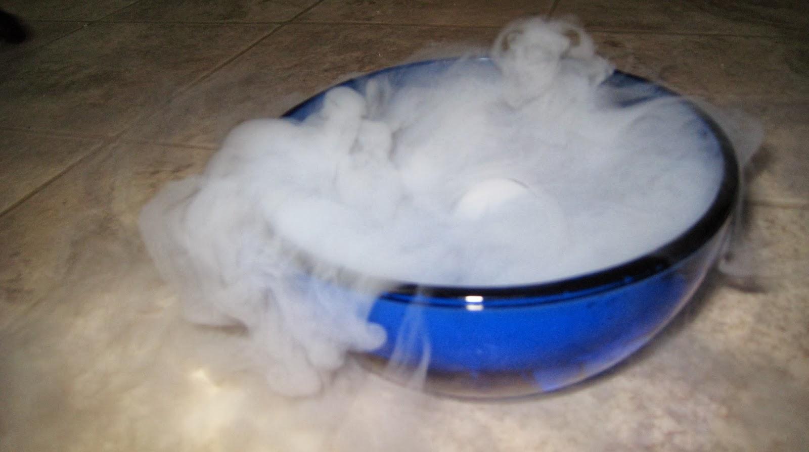 Как сделать сухой лед в домашних