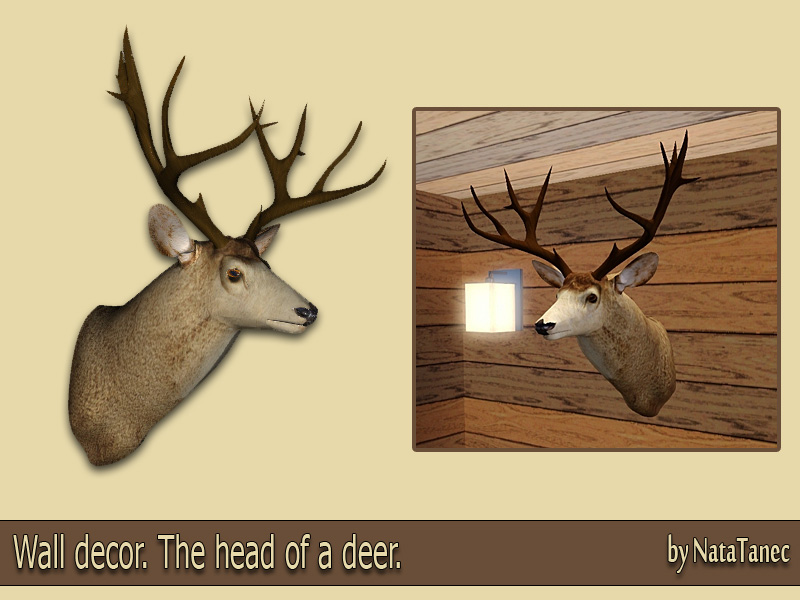 Unique Deer Head Decor Wall Illustration - Wall Art Collections ...