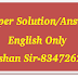 TET-2 Paper Solution/Answer Keys of English - Exam held on 26th July, 2015