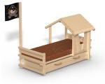 Etagenbett Wickey Jungle Hut Duo : Spielturm