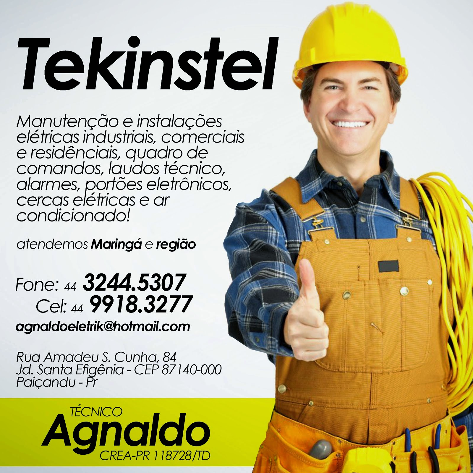 Técnico Agnaldo  CREA -PR 118728/TD (Clique sobre a imagem para empliar)