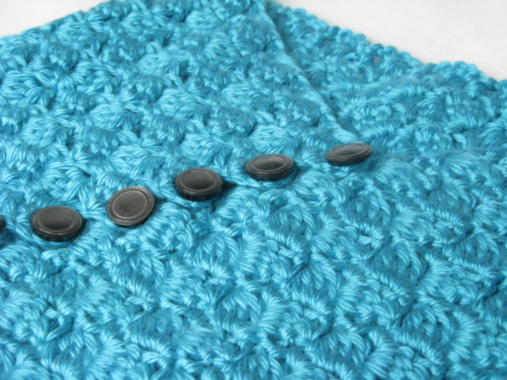 Yarn Obsession: Crochet Neck Warmer - Aqua