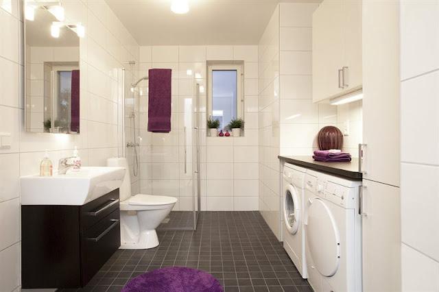 Lavadero De Baño Moderno:Bathroom Laundry Combined