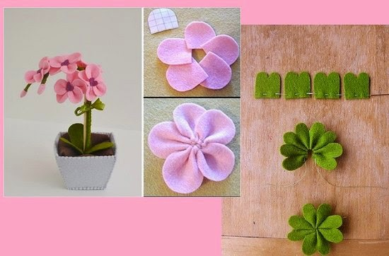 art craft felt flower