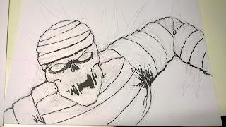 mummy drawing