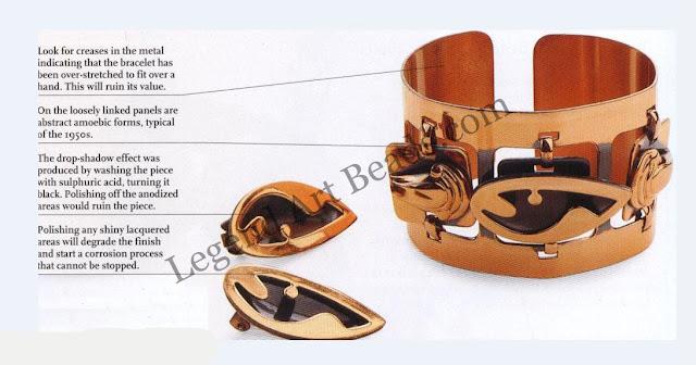 Rebajes Copper Cuff Bracelet & Earrings
