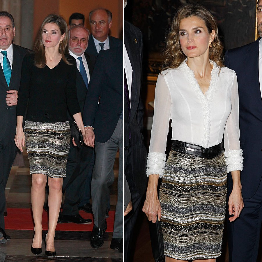 Queen Letizia - Felipe Varela Skirt