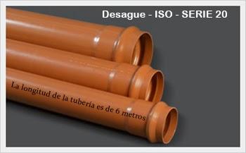 Alcantarillado PVC ISO - SERIE 20