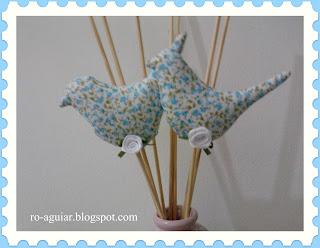 artesanato em patchwork - passarinho