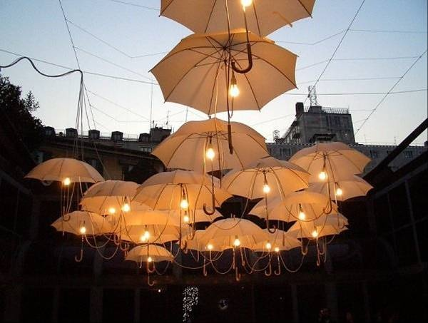 How to recycle 17 stunning old umbrella decor for Decor umbrellas