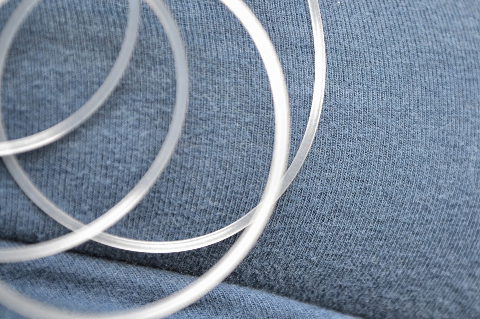 Close-up of insulin pump tubing.