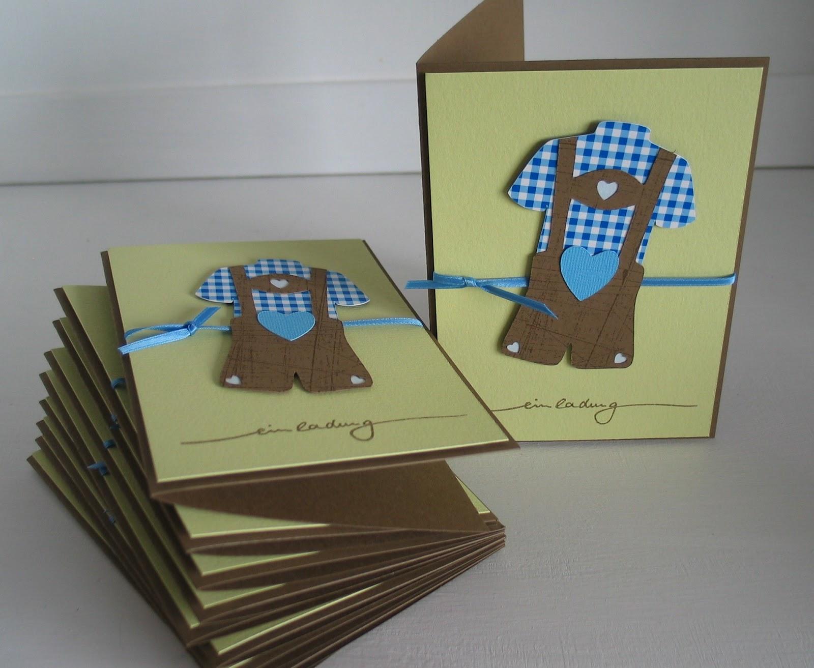 Schön Stampin With Beemybear: Taufe Auf Gut Bayrisch, Einladungs.  Einladungskarten .