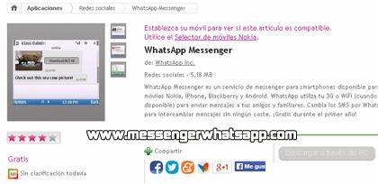 Descarga WhatsApp para Ovi gratis