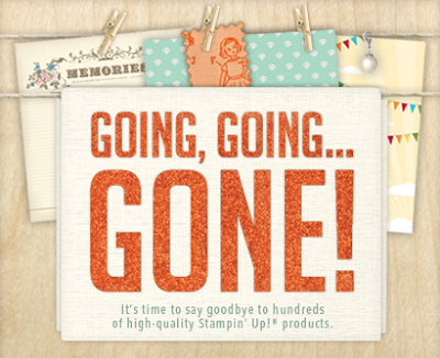 Hundreds of high-quality Stampin' Up! products retiring