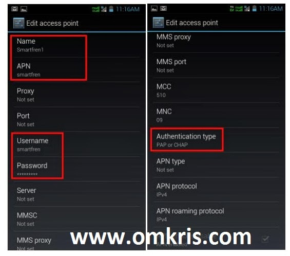 Cara Setting APN Internet Smartfren Andromax (All Versions)