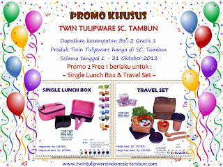 Promo Tulipware Khusus di SC. Tambun Bekasi Oktober 2013