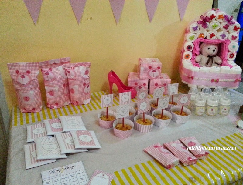 of our mommy friend got pregnant so we decided to throw a baby shower