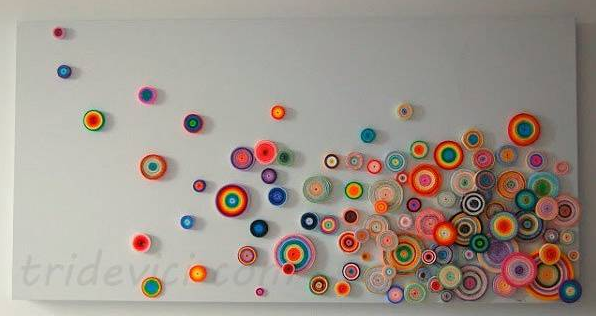 Easy craft idea quilling wall art Wall art paper designs