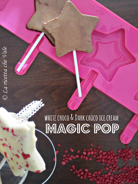 white choco & dark choco ice cream magic pop!