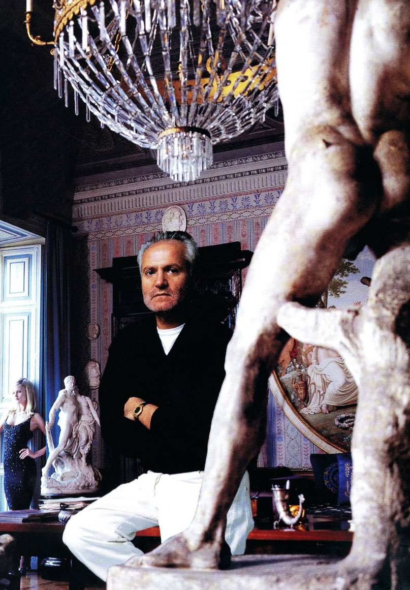 Gianni Versace photographed by Jean-Marie Perier for Vogue report via fashioned by love
