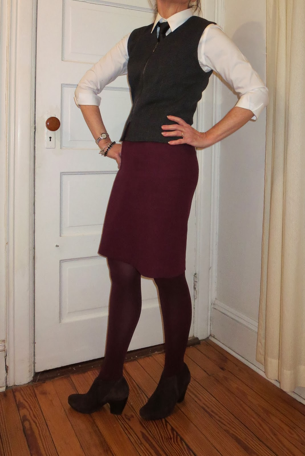tie and vest for women over 50