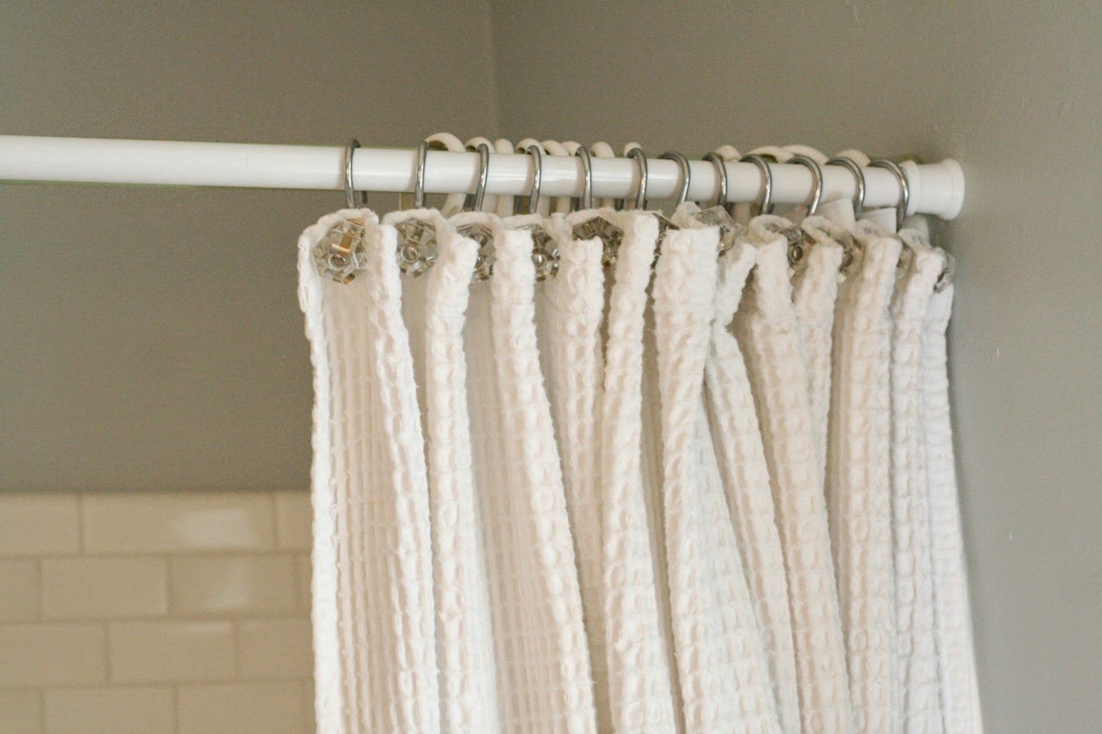 the cotton waffle weave shower curtain came from the