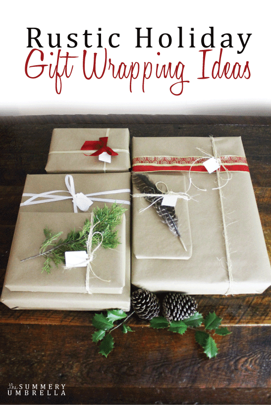 Rustic Holiday Gift Wrapping Ideas
