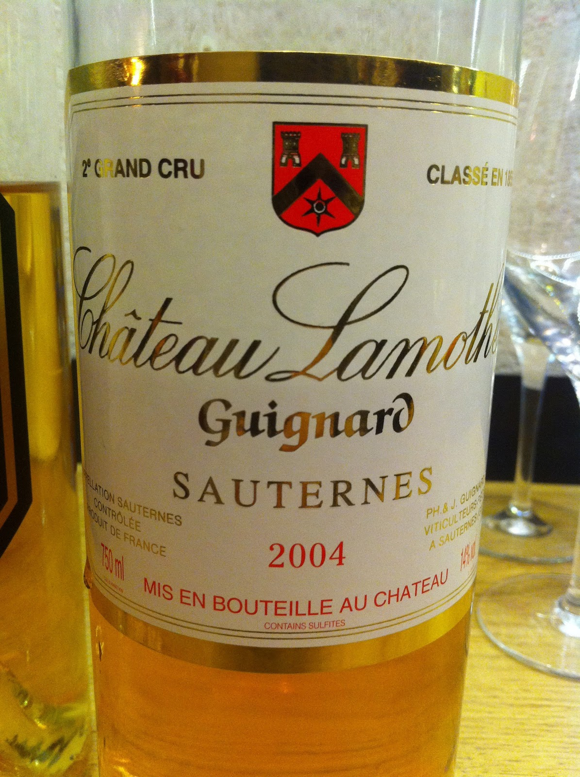 Chteau Lamothe Guignards 2004 Struck Me As Notably Mushroomy On The Nose Which Made For A Pleasantly Necrotic Contrast To Palates Masculine