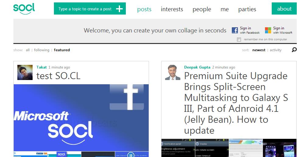 socl microsoft social network