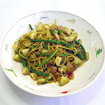 Mario Batali's Spaghettinni with Pesto, Green Beans and Potatoes 9.27.11